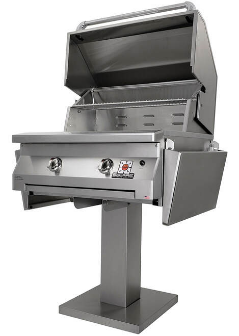 Solaire 30 Inch Grill, Bolt Down Post, IRBQ