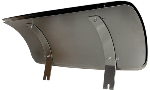 deflector for Bromic 3 burner platinum, Assembled Front View