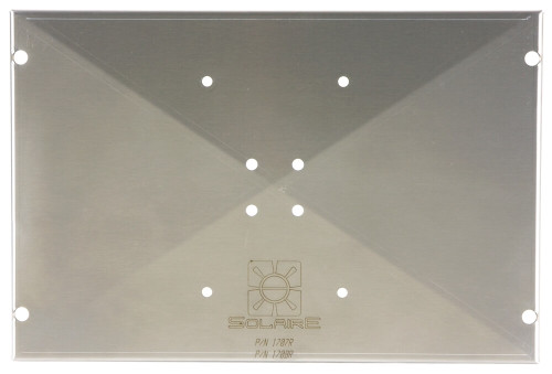 Stainless Steel plate to adapt to various Magma rail, deck and fishing pole mounts for Portable Solaire Infrared Grills