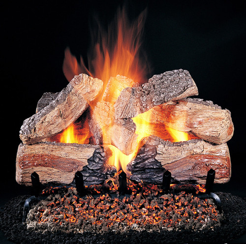 """Evening Desire by Rasmussen Gas Logs (shown: 24-inch set size on FX burner and 5/8"""" Grate)"""