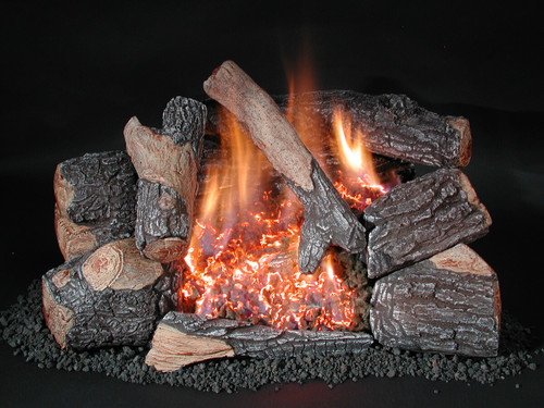 C8 Chillbuster Evening Embers Bark by Rasmussen Gas Logs