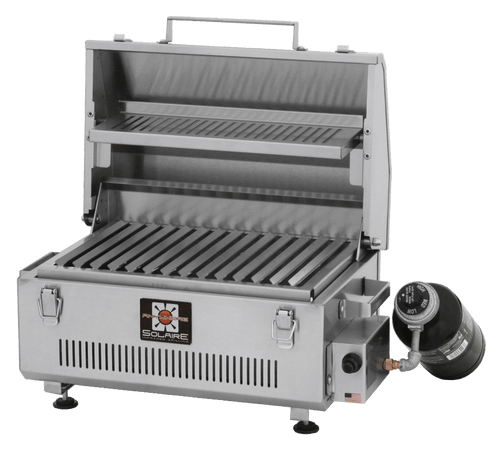 Solaire Anywhere Portable Infrared Grill with Warming Rack and Marine Grade Steel