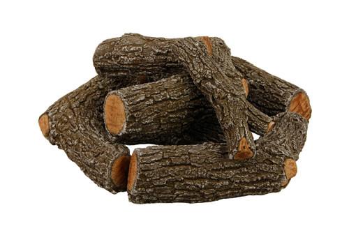 """FP21C Rasmussen Fire Pit Bark Logs arrangement with 21"""" footprint"""
