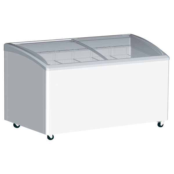 convenience store ice cream freezer for popsicles, frozen treats, frozen desserts, ice cream cakes, etc. Display all of your frozen products in this freezer display case in your convenience store or your ice cream shop. Buy yours today online at Coldcore Inc.