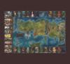 Klaradox Map Woven Throw Blanket