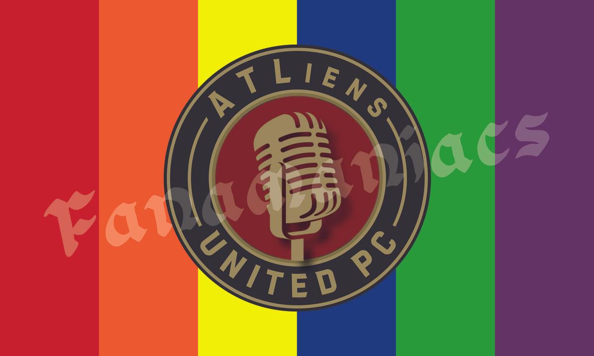 ATLiens Podcast Flag - Rainbow