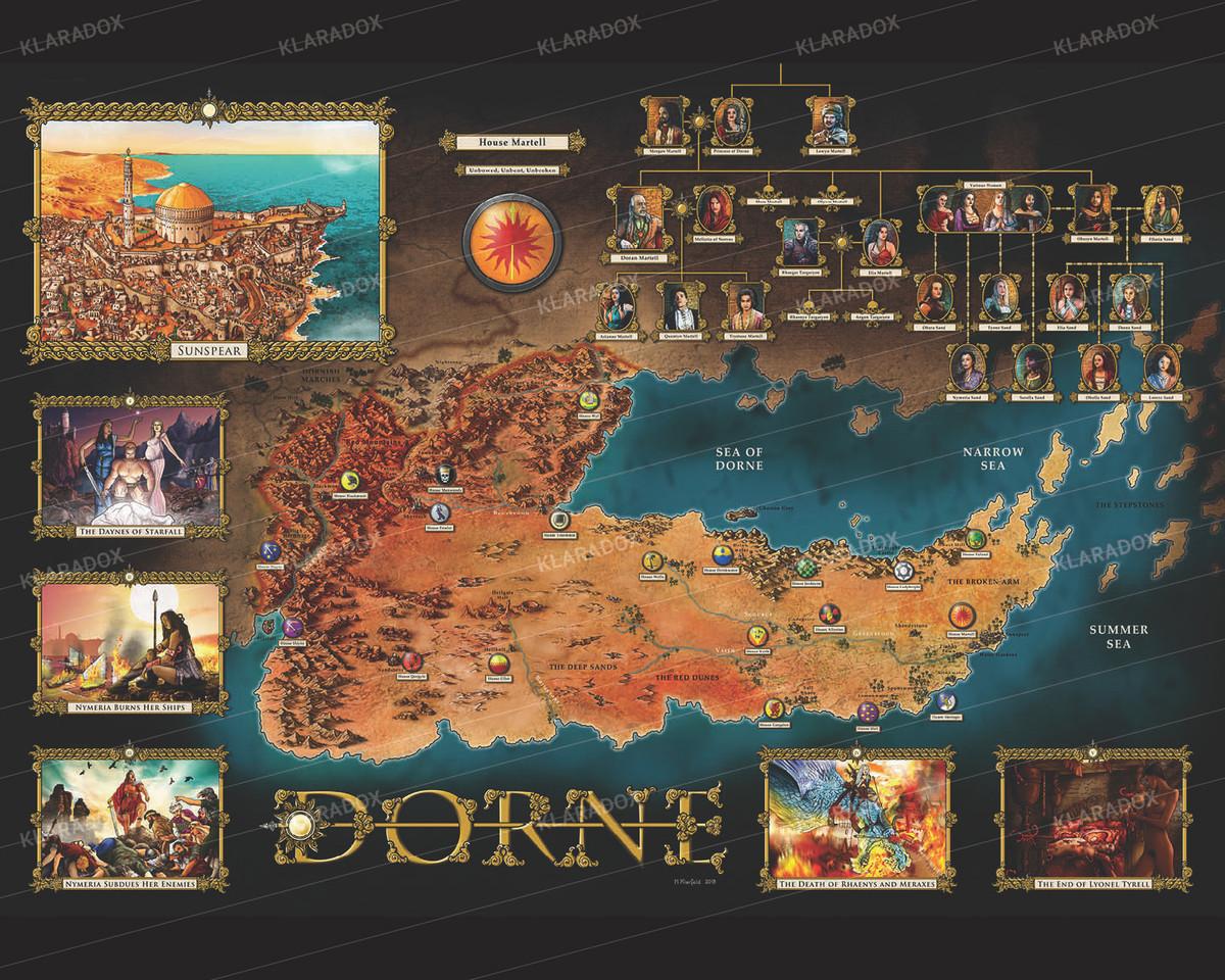 """Klaradox Map - 16"""" X 20"""" Metal Art Print"""