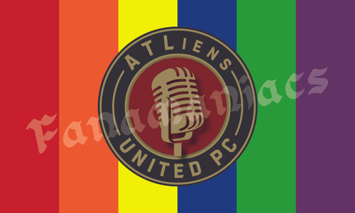ATLiens Podcast Flag - Rainbow
