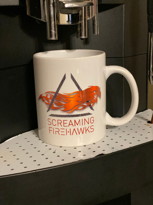 Screaming Firehawks mug