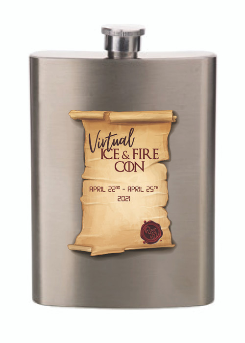 Virtual IAFC Metal Flask
