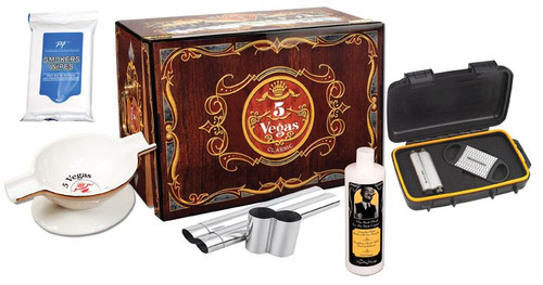 5 Vegas Cigar Humidor Gift Set