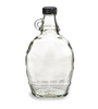 12 oz Glass Syrup Bottles with Black Tamper Evident Lid