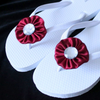 Our fabric yoyo appliques are perfect for crafts.