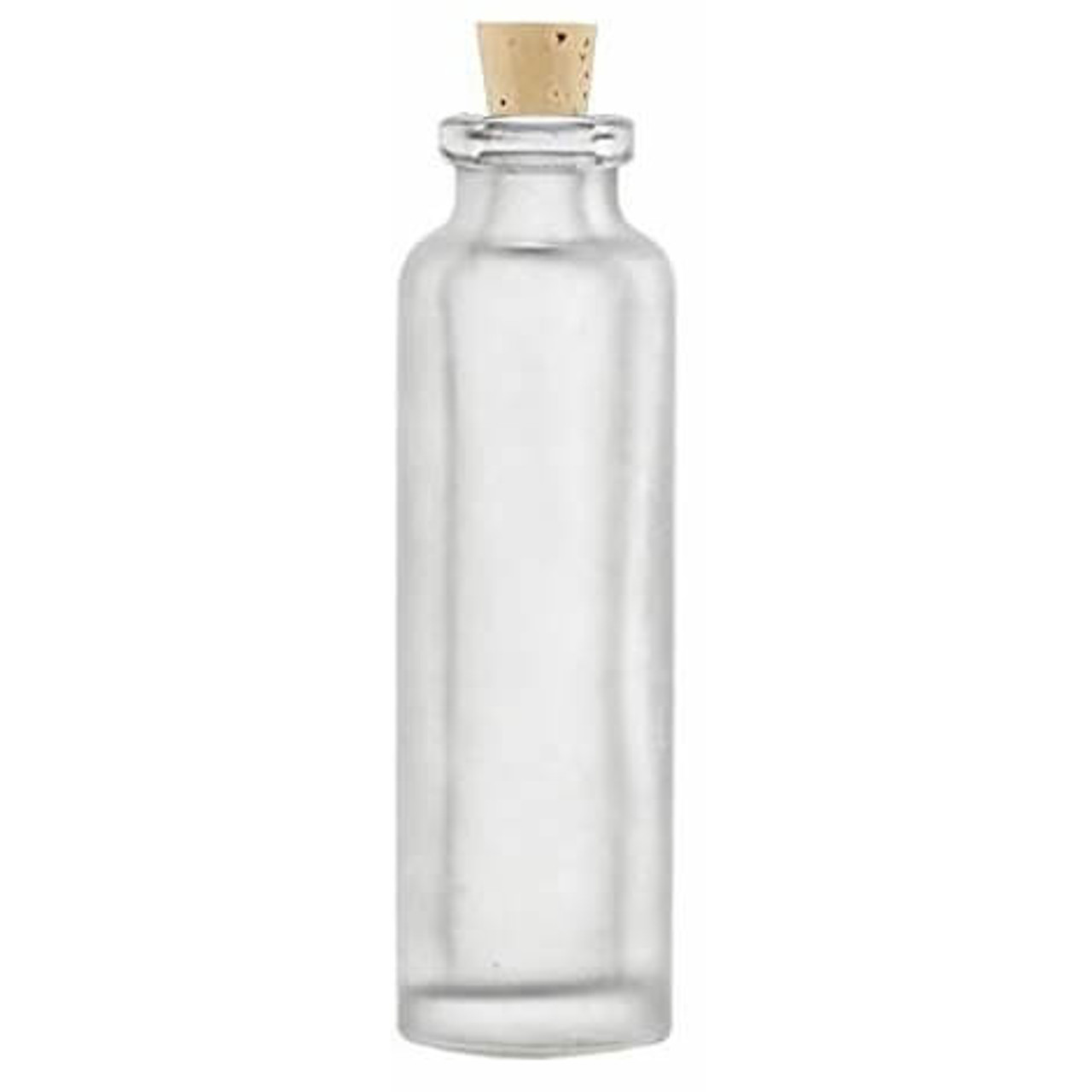 15 ml frosted cylinder vial bottle with cork bottle stopper