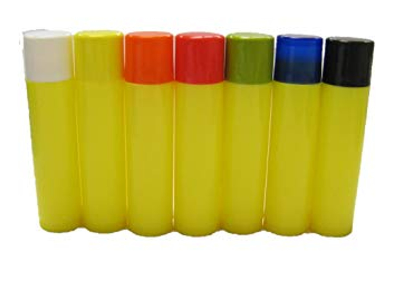 100 pcs 0.15 oz Gold Empty Lip Balm Tubes with Your Color Choice of Caps