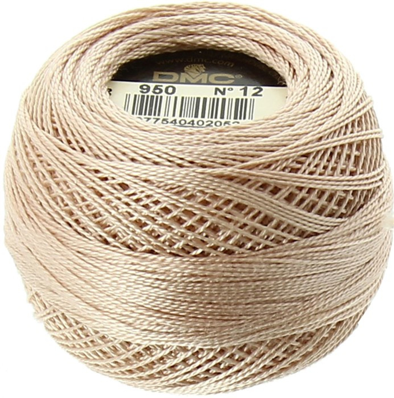 DMC  Perle Cotton Thread Ball | Size 12 | 950 Light Desert Sand