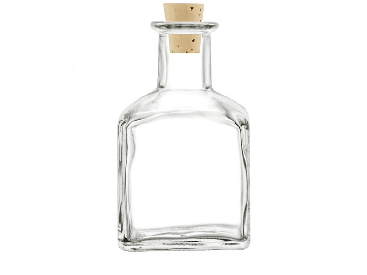 5 oz Square Bottle with Natural Cork Stopper (150 ml)
