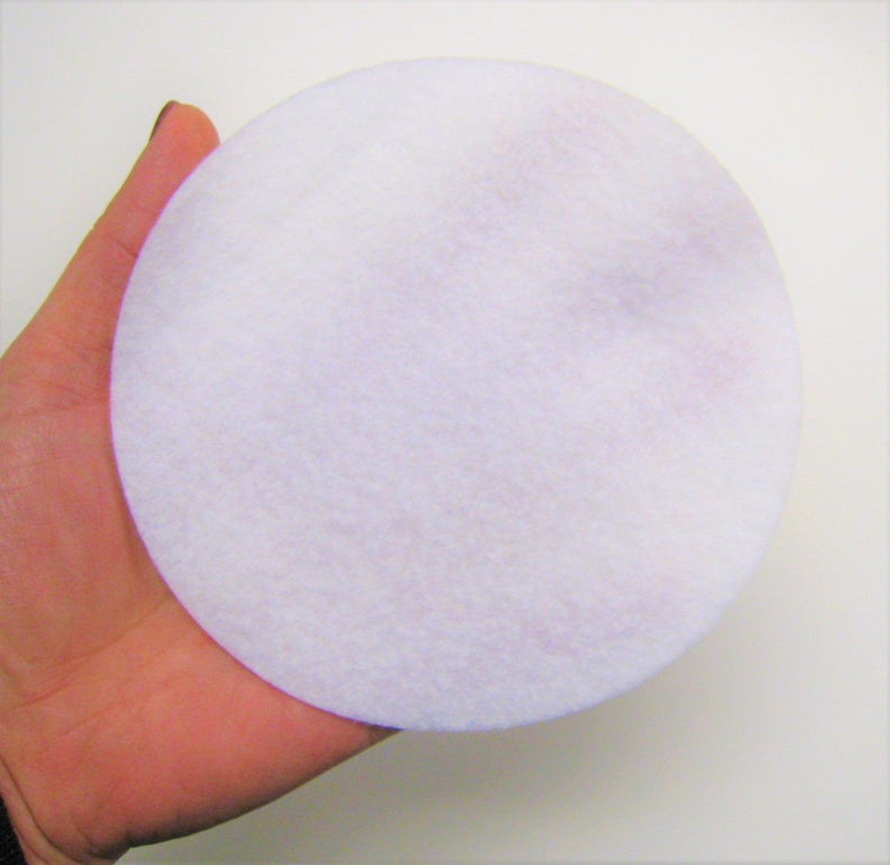 5 inches White felt circle