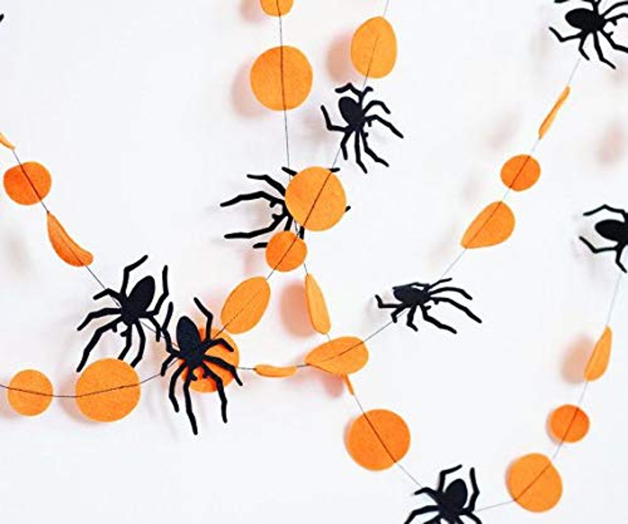 Halloween garland with felt circles