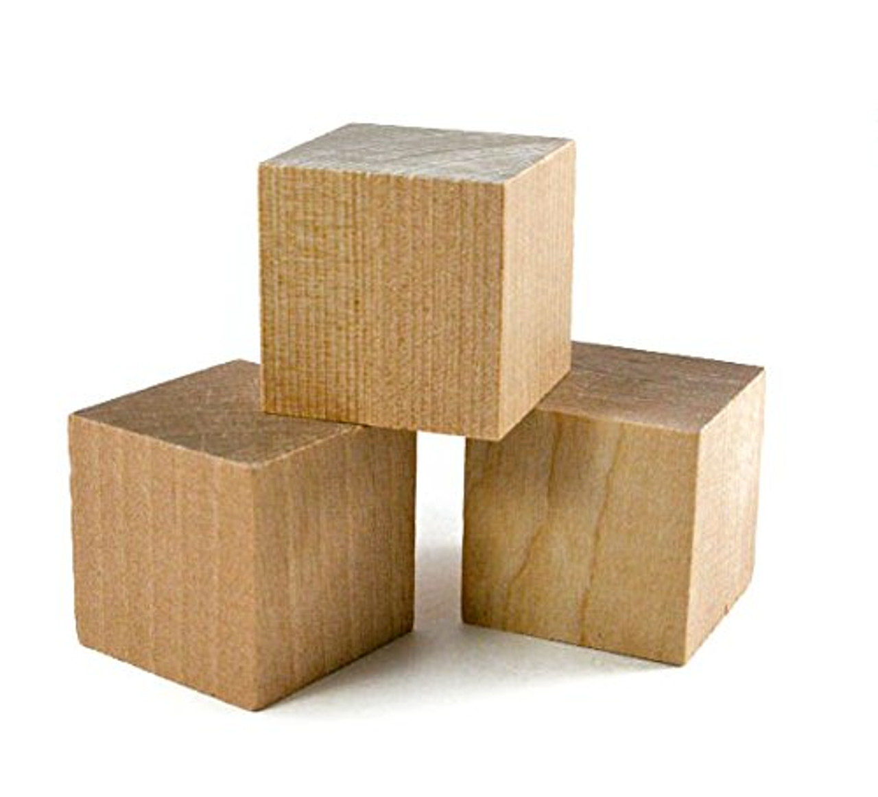 "1"" Wooden Cubes (40 pcs) - Wooden Blocks"