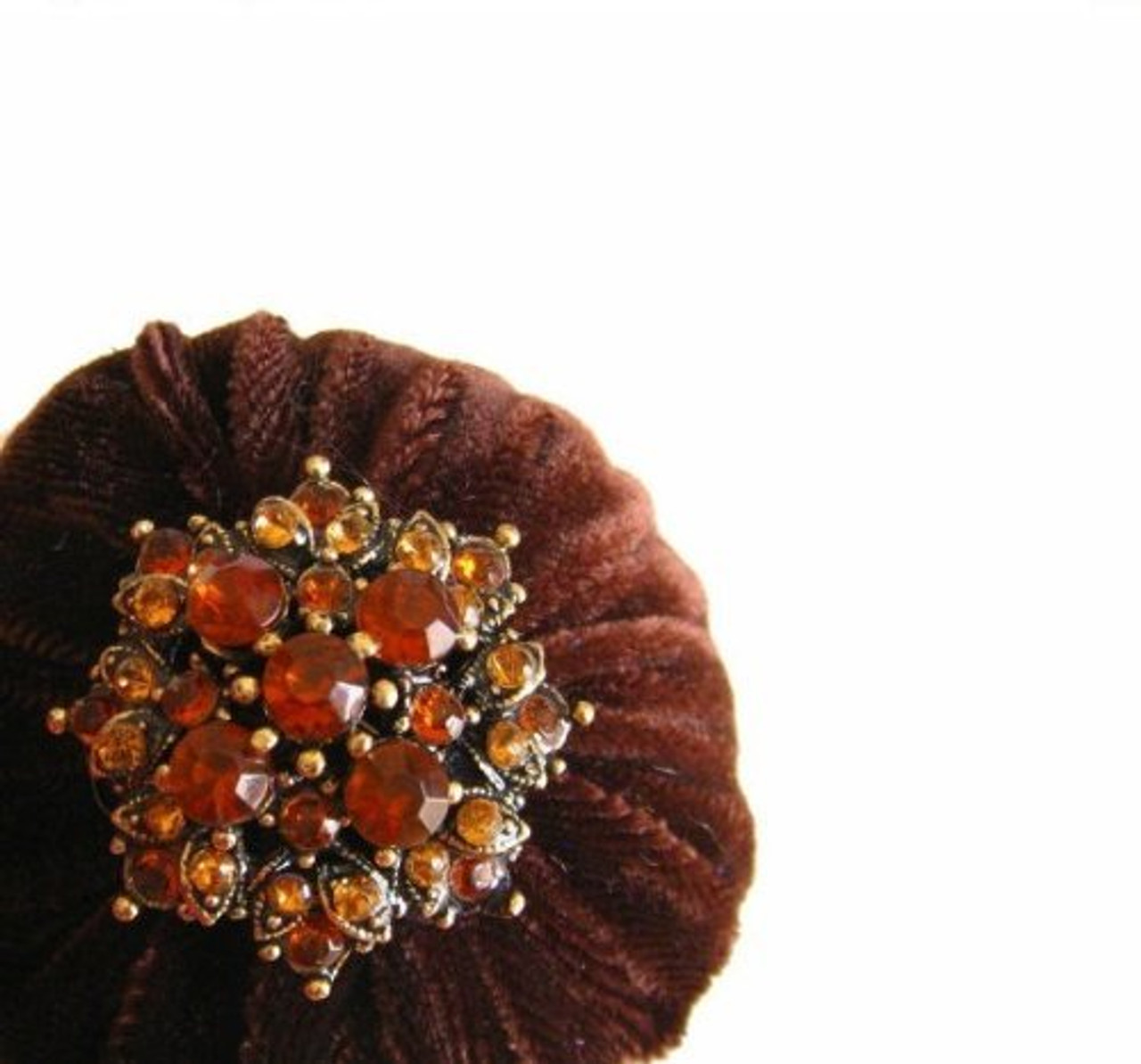 Brown Emery Pincushions to keep your needles clean and sharp