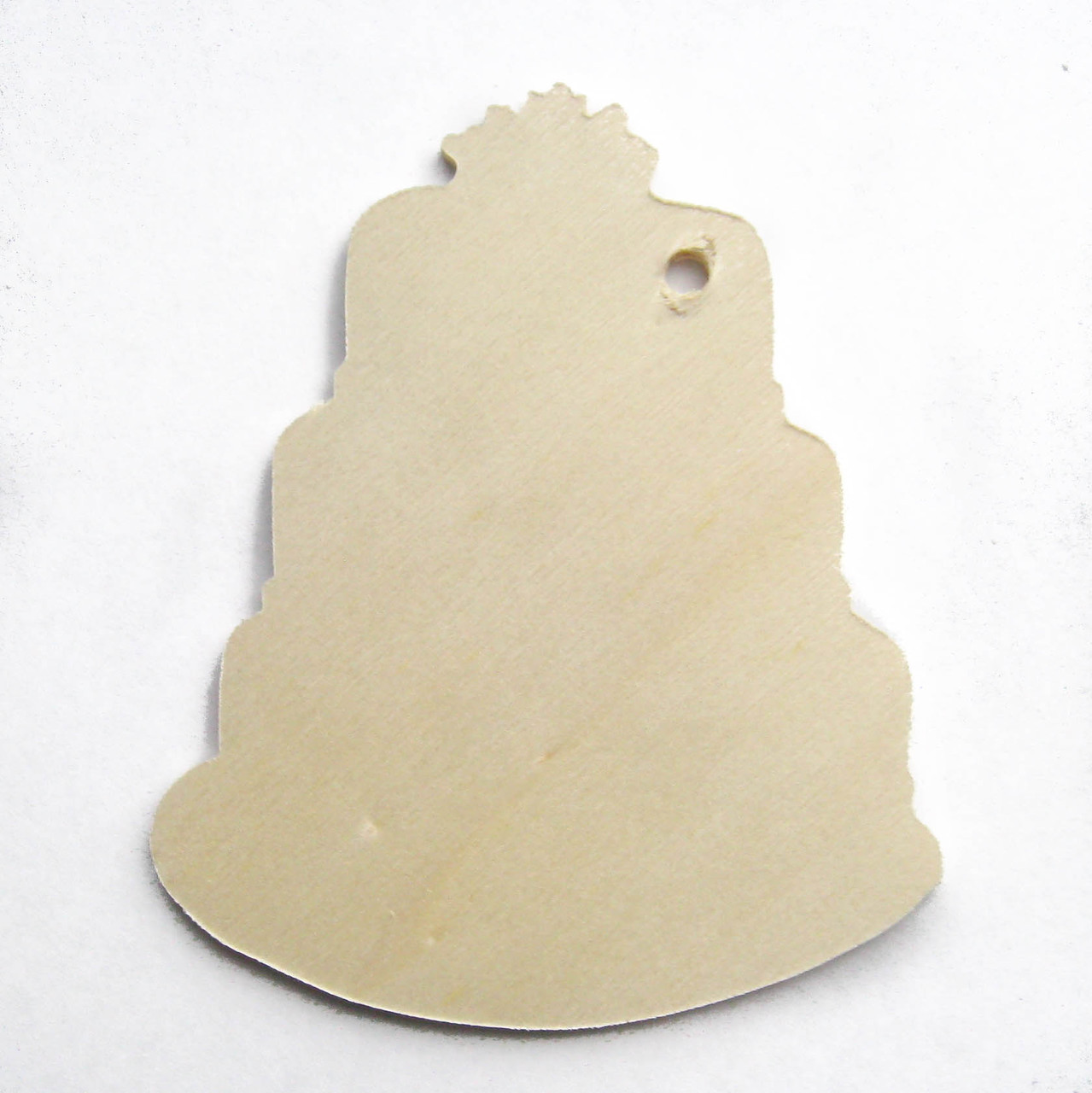 Unfinished birch wooden tag ornament wedding birthday cake shape cutout diy craft kit