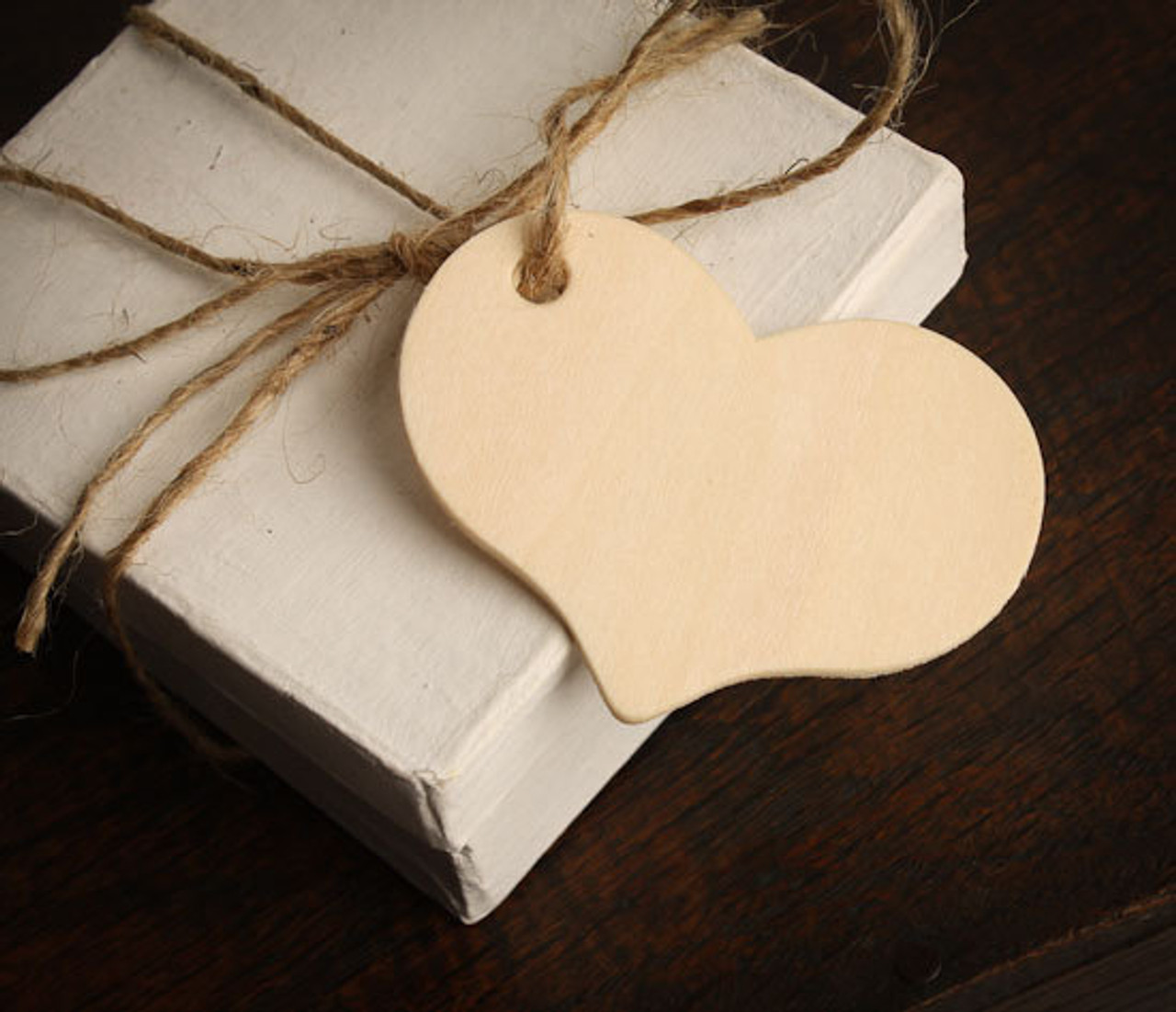 Unfinished Wooden Heart Gift Tag Cutout