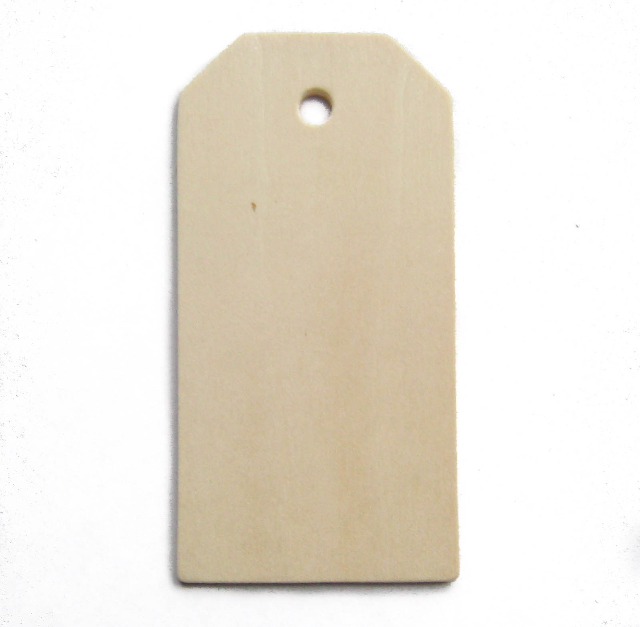 "Large wood tag, unfinished birch made in Usa, 3"", cutout, craftparts"