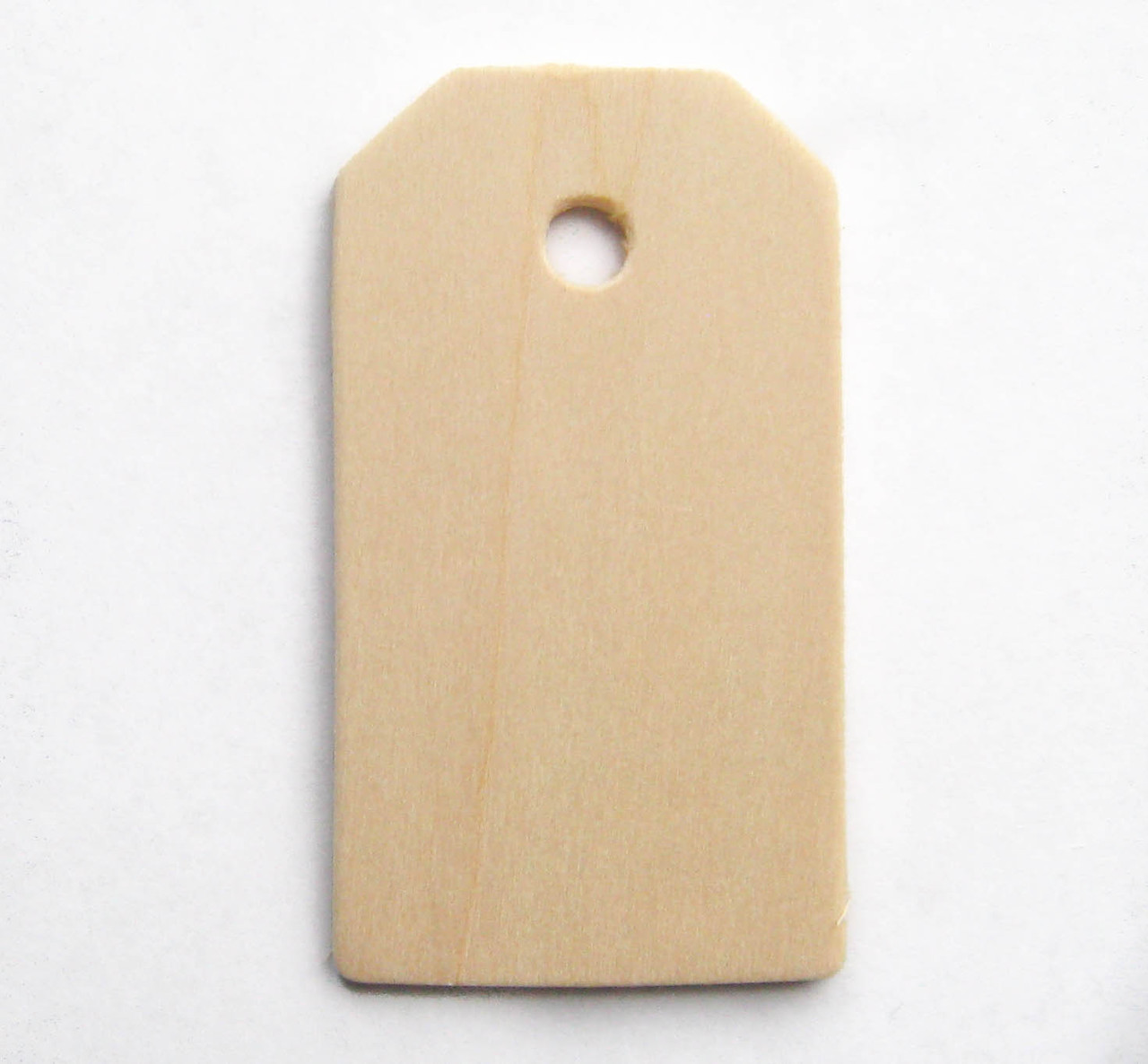 """Wooden tag, unfinished birch made in Usa, 2"""", cutout, craft parts"""