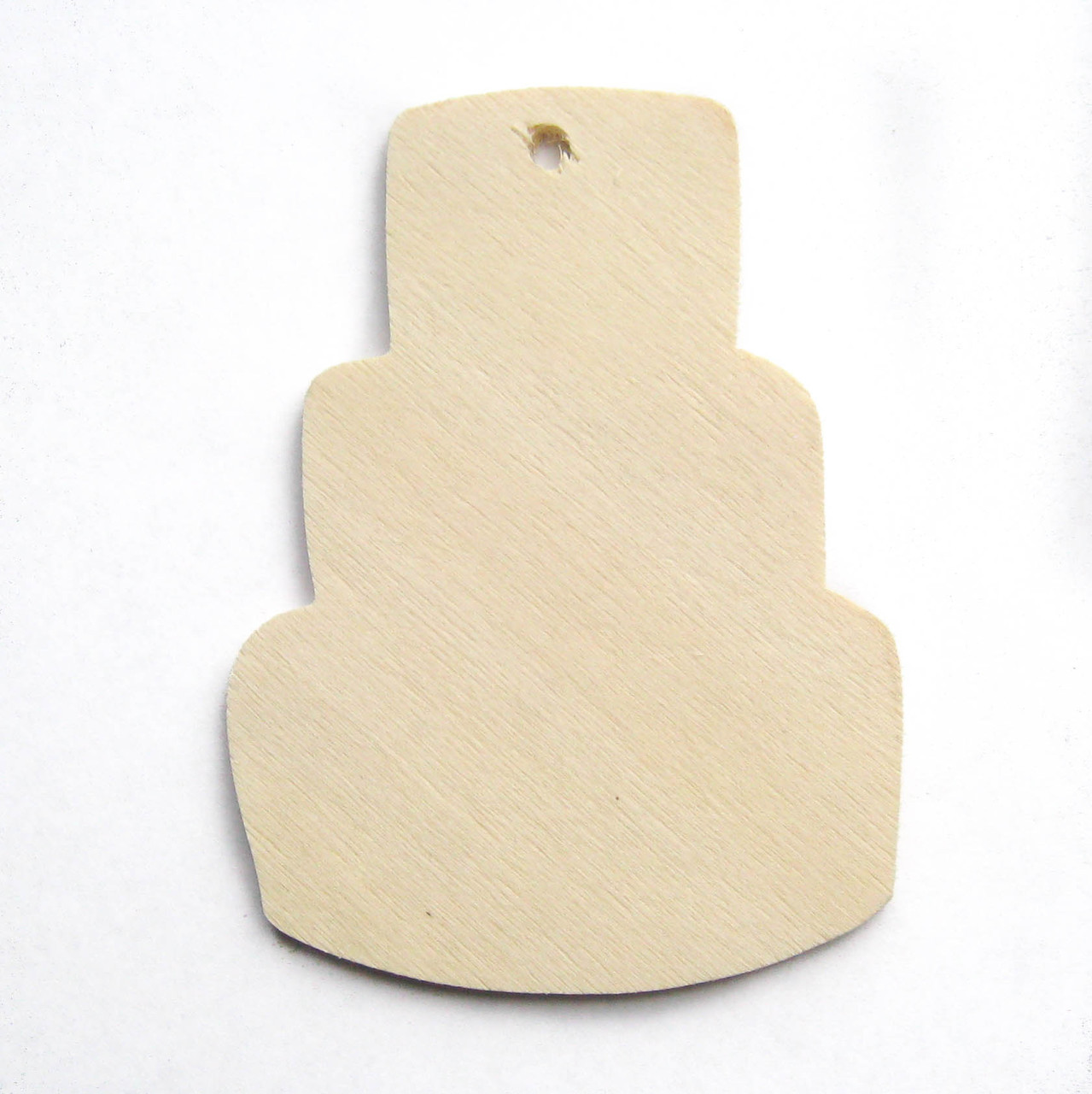 Wood tag, birthday cake, 3 tier, ornament, diy craft, gift wrapping