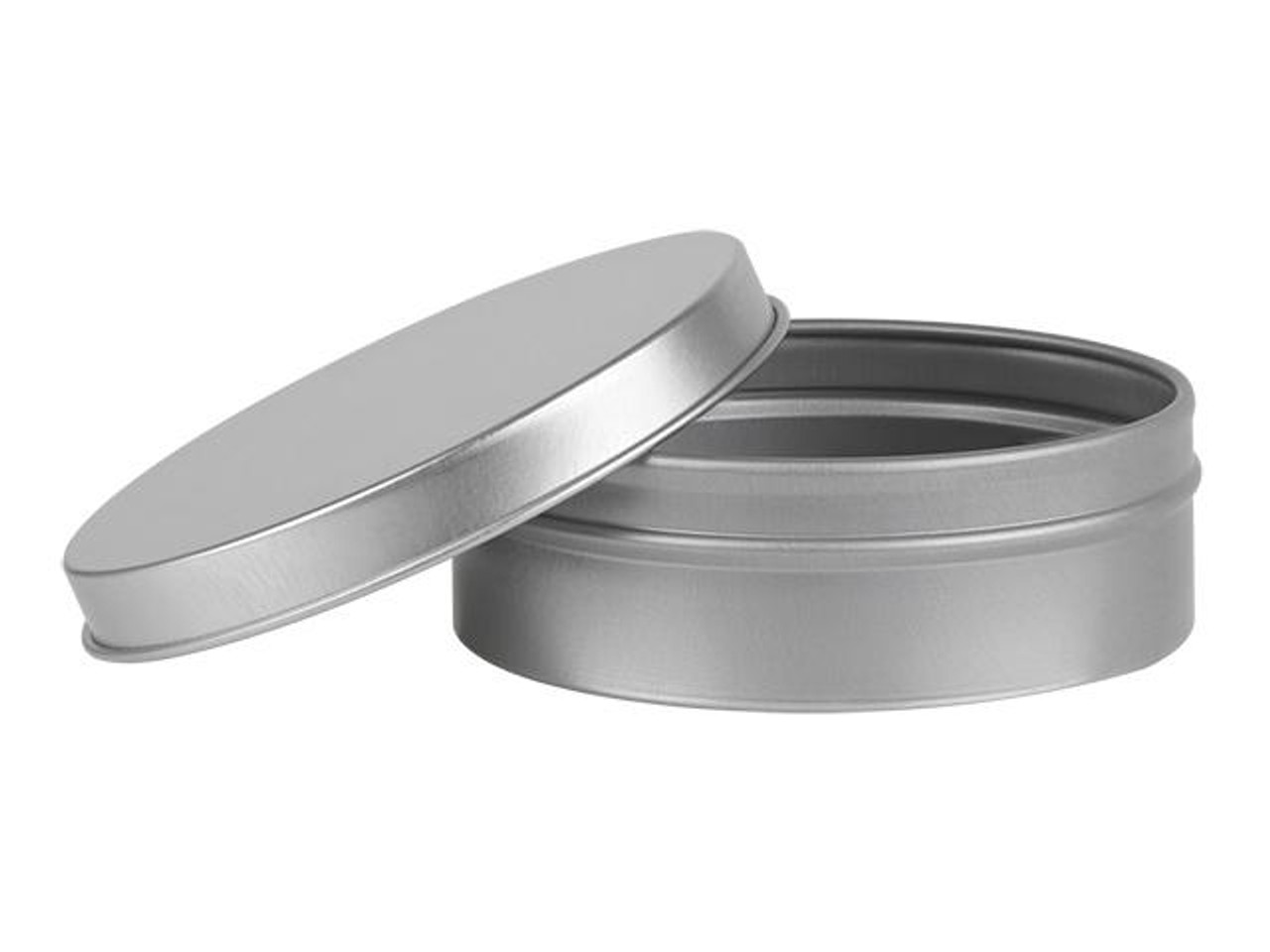 Nakpunar 4 oz Flat Round Tin Container with Solid Slip Cover