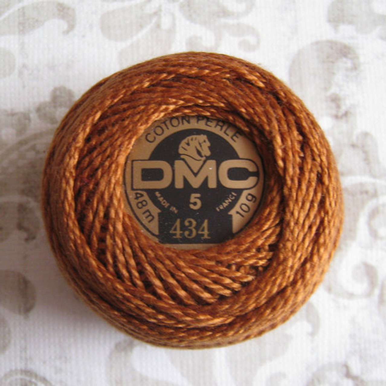 DMC Pearl, Perle Cotton Thread Ball | Size 5 | 434 Light Brown