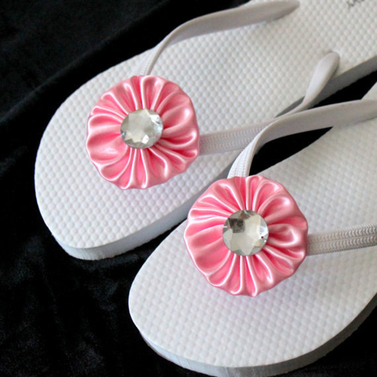 4e593c665473 Baby Pink Flip Flops for Bride to Be