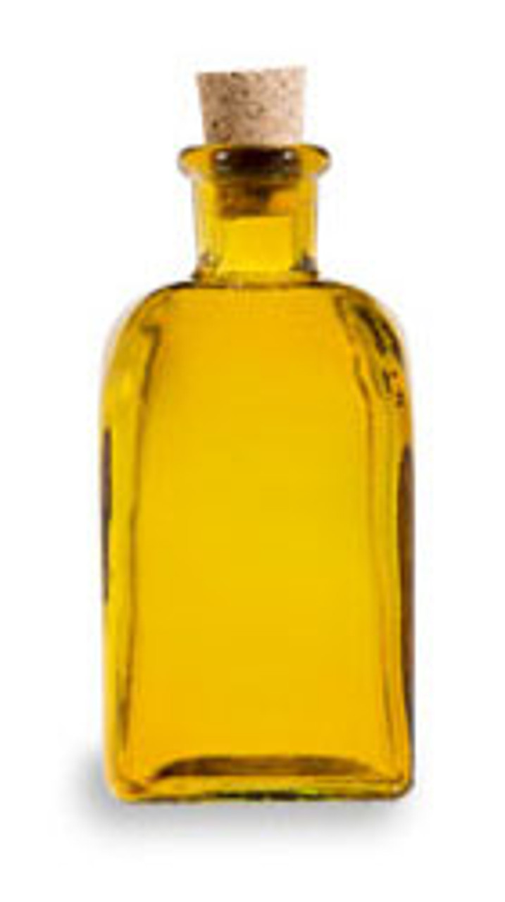 Yellow taberna recycled glass boston round bottle with cork stopper