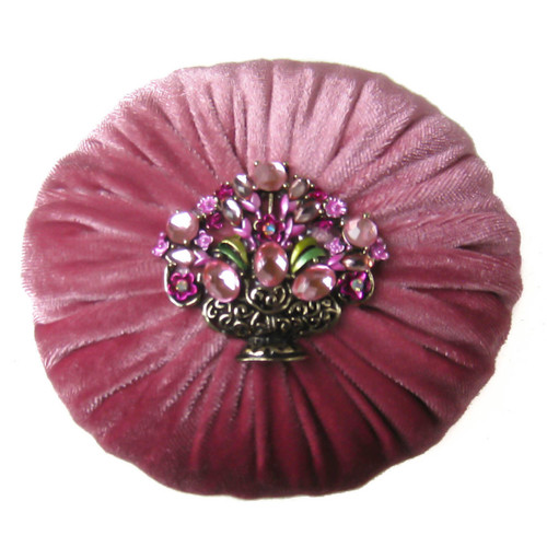 Nakpunar Mauve Pink Sewing Pincushion with Emery Sand