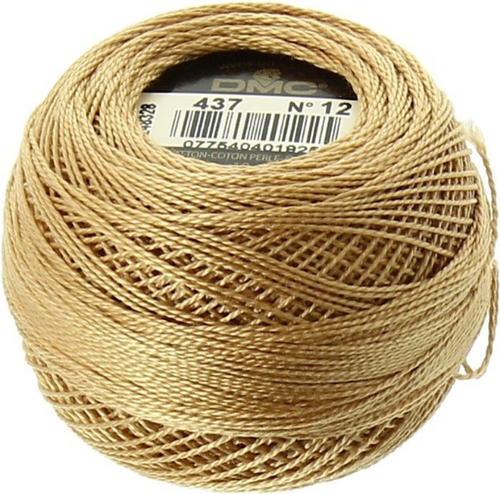 DMC Perle Cotton Thread Ball | Size 12 | 437 Lt MTan (116 12-437)