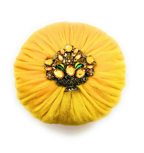 Nakpunar Yellow Emery Sand Filled Sewing Pincushion to Keep your needles clean and sharp