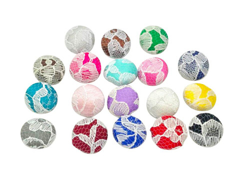 Nakpunar Satin Bridal Buttons with White Lace