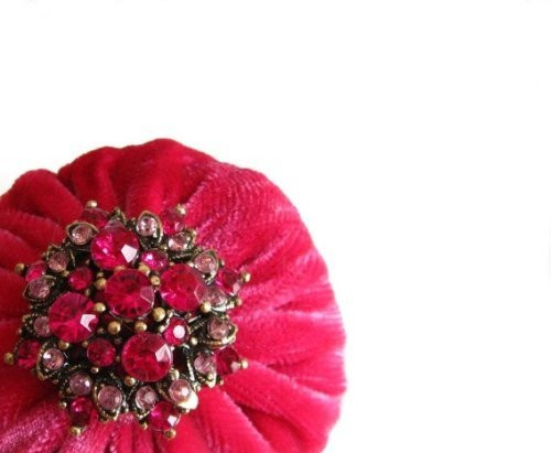 Hot Pink Emery Pincushion will keep your needles sharp