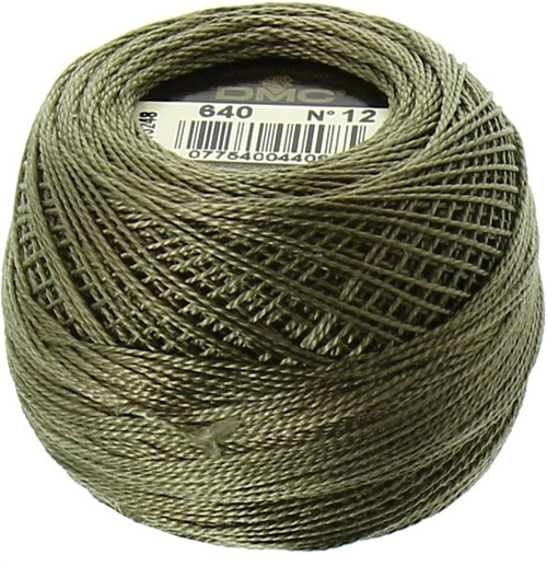 DMC  Perle Cotton Thread Ball | Size 12 | 640 Very Dark Beige Gray