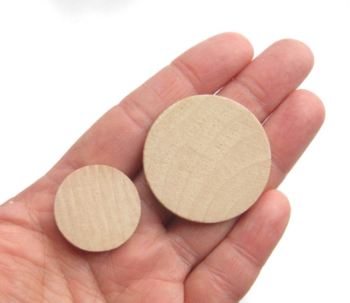 Round wooden cutouts