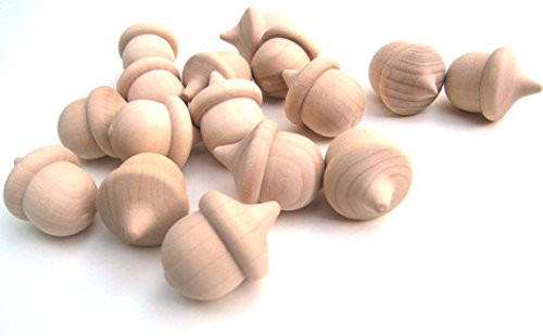 Nakpunar 25 pcs unfinished wood acorns