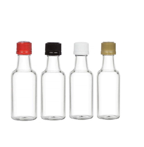 50( ml) mini Plastic Liquor Bottle with choice of color cap