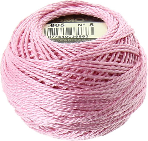 DMC #5 Perle Cotton Thread | 605 Pink (116 5-605)