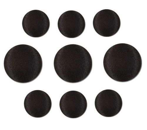 Black Tuxedo Buttons - 3 Large 6 small buttons