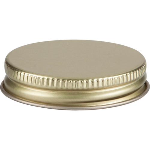48/400 Gold Metal Cap with Plastisol Liner