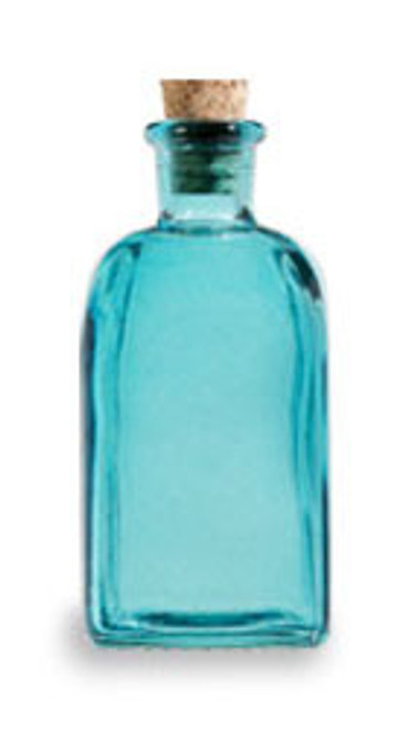 Aqua Blue 8 oz recycled Spanish Taberna Glass Bottle with Cork