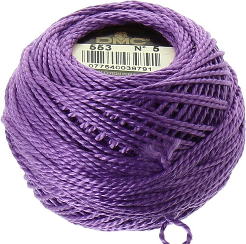 DMC #5 Perle, Perle Cotton Thread Ball | 553 Violet (116 5-553)