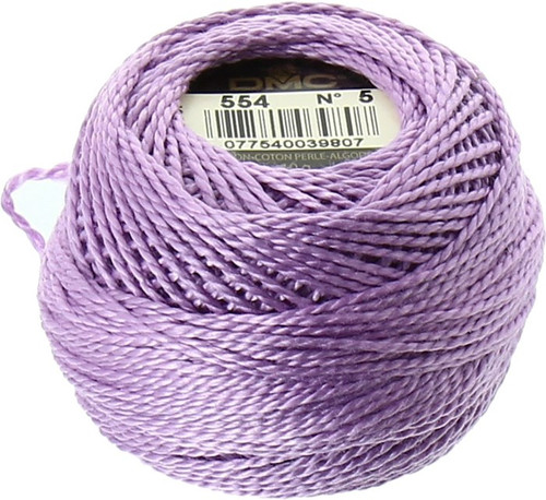 DMC #5 Perle, Perle Cotton Thread Ball | 554 Light Violet (116 5-554)