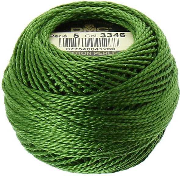 DMC #5 Perle, Pearl Cotton Thread Ball| 3346 Hunter Green (116 5-3346)